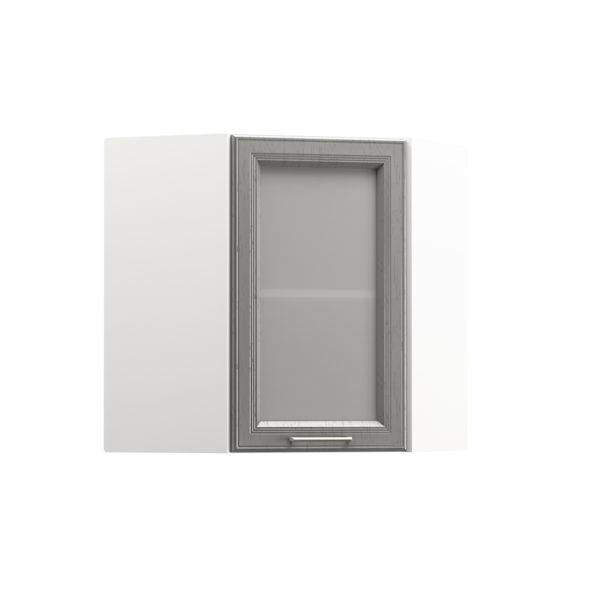 Милана Шкаф навесной угловой витрина