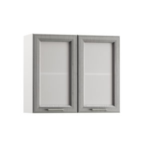 Милана Шкаф навесной 800 2 витрины