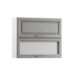 Милана Шкаф навесной 800 горизонтальный 1 витрина 1 дверь