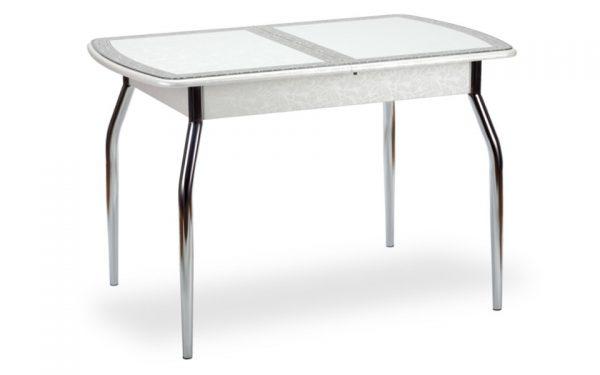 Чикаго СТ (6191) стол гобелен Белый