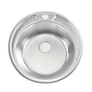 Мойка врезная 490 0,8 180 с сифоном круглая