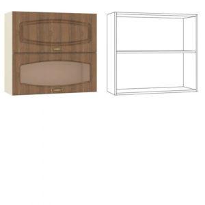 Сильвия Шкаф навесной 80 гориз. 1 дверь + 1 витрина