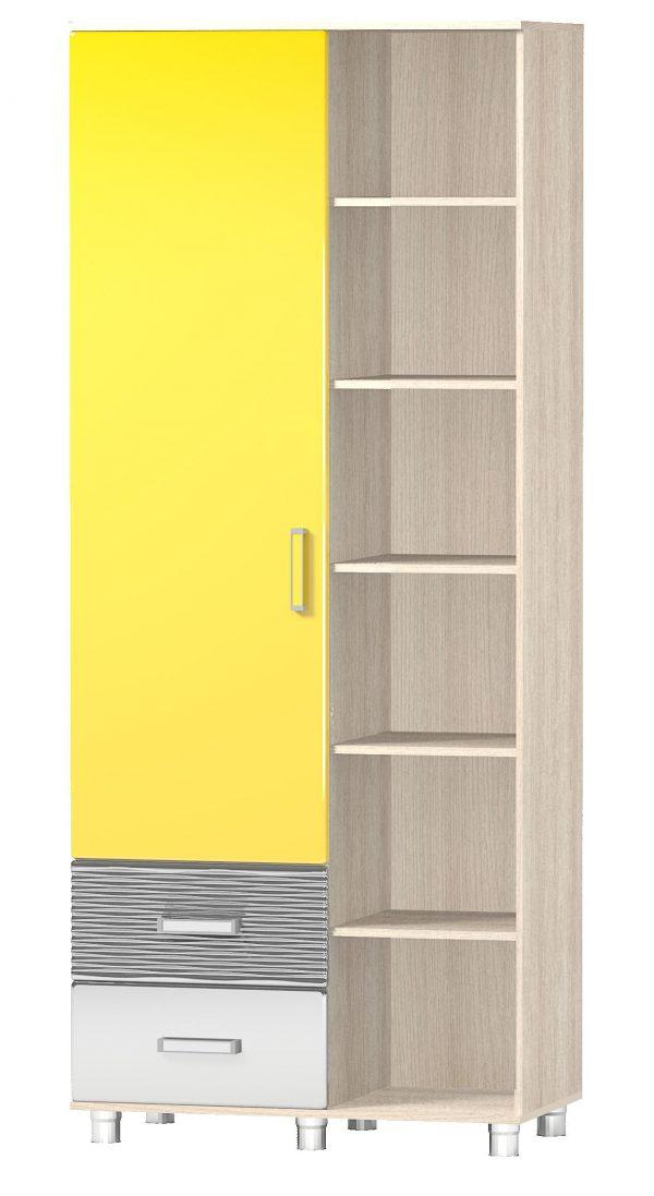 Шкаф одностворчатый с открытыми полками «Алешка»  МДФ