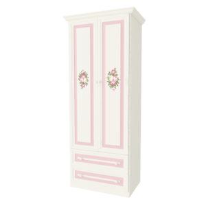 Алиса шкаф 2х створчатый с ящиками