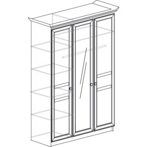 Инна 625 Шкаф 3-дверный