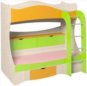 Кровать двухъярусная «Почемучка»