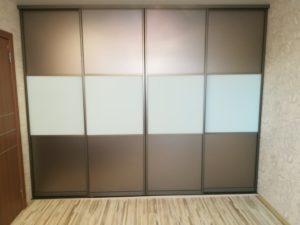 Шкаф-купе встроенный 2400 зеркало бронза матовое/стекло матовое оракал