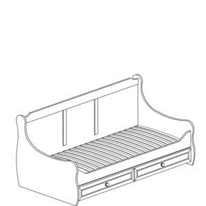 Леон  544 Кровать с ящиками