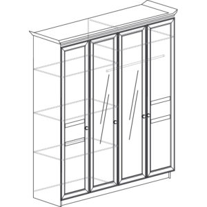 Инна 624 Шкаф 4-дверный