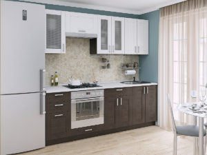 Лофт-01 (2,2) кухонный гарнитур Белый/Венге