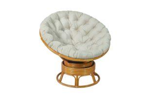 Вращающееся кресло Папасан (Papasan) плетеное из ротанга c/п DH 0726К
