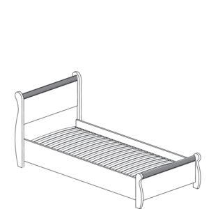 Леон  545 Кровать одинарная